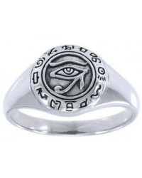 Eye of Horus Egyptian Signet Ring Mystic Convergence Metaphysical Supplies Metaphysical Supplies, Pagan Jewelry, Witchcraft Supply, New Age Spiritual Store