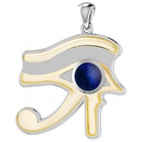 Lapis Eye of Horus Gold Accented Pendant