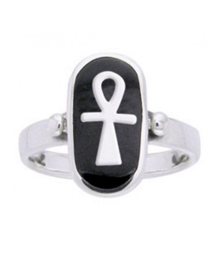 Ankh Sterling Silver Egyptian Ring at Mystic Convergence Metaphysical Supplies, Metaphysical Supplies, Pagan Jewelry, Witchcraft Supply, New Age Spiritual Store