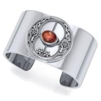 Chalice Well Garnet Cuff Bracelet