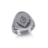 Masonic Mens Signet Ring