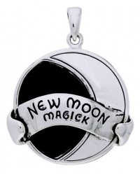 New Moon Magick Sterling Silver Pendant Mystic Convergence Metaphysical Supplies Metaphysical Supplies, Pagan Jewelry, Witchcraft Supply, New Age Spiritual Store