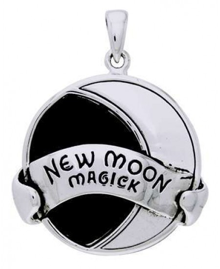 New Moon Magick Sterling Silver Pendant at Mystic Convergence Metaphysical Supplies, Metaphysical Supplies, Pagan Jewelry, Witchcraft Supply, New Age Spiritual Store