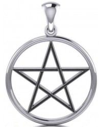 Black Pentagram Sterling Silver Pendant Mystic Convergence Magical Supplies Wiccan Supplies, Pagan Jewelry, Witchcraft Supplies, New Age Store