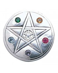 Pentacle Disc Sterling Silver Pendant Mystic Convergence Metaphysical Supplies Metaphysical Supplies, Pagan Jewelry, Witchcraft Supply, New Age Spiritual Store