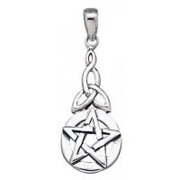 Pentacle Knot Sterling Silver Pentagram Pendant