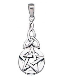 Pentacle Knot Sterling Silver Pentagram Pendant Mystic Convergence Metaphysical Supplies Metaphysical Supplies, Pagan Jewelry, Witchcraft Supply, New Age Spiritual Store