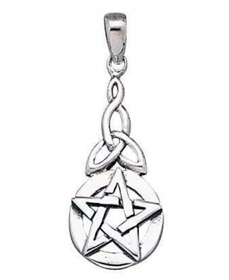 Pentacle Knot Sterling Silver Pentagram Pendant at Mystic Convergence Metaphysical Supplies, Metaphysical Supplies, Pagan Jewelry, Witchcraft Supply, New Age Spiritual Store