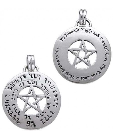 Love Pentacle Amulet in Sterling Silver at Mystic Convergence Metaphysical Supplies, Metaphysical Supplies, Pagan Jewelry, Witchcraft Supply, New Age Spiritual Store