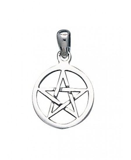 Pentacle Mini Sterling Silver Pendant at Mystic Convergence Metaphysical Supplies, Metaphysical Supplies, Pagan Jewelry, Witchcraft Supply, New Age Spiritual Store