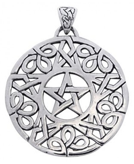 Knotwork Pentacle Pendant at Mystic Convergence Metaphysical Supplies, Metaphysical Supplies, Pagan Jewelry, Witchcraft Supply, New Age Spiritual Store