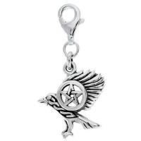 Raven Pentacle Mystical Clip On Charm
