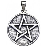 Pentacle Solid Silver Pentagram Pendant
