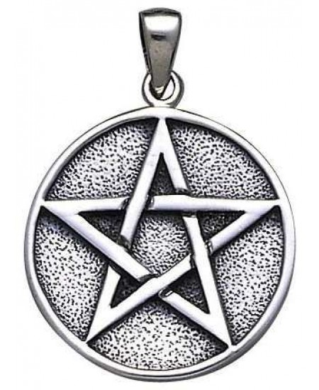 Pentacle Solid Silver Pentagram Pendant at Mystic Convergence Metaphysical Supplies, Metaphysical Supplies, Pagan Jewelry, Witchcraft Supply, New Age Spiritual Store