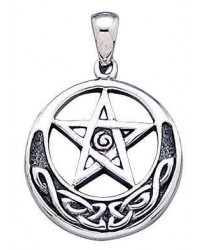 Spiral Pentacle Sterling Silver Pentagram Pendant Mystic Convergence Metaphysical Supplies Metaphysical Supplies, Pagan Jewelry, Witchcraft Supply, New Age Spiritual Store