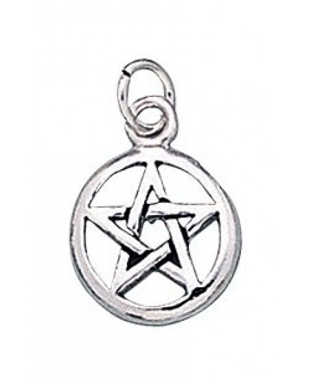 Pentacle Sterling Silver Charm at Mystic Convergence Metaphysical Supplies, Metaphysical Supplies, Pagan Jewelry, Witchcraft Supply, New Age Spiritual Store