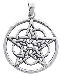 Woven Pentacle Pendant in Sterling Silver Mystic Convergence Metaphysical Supplies Metaphysical Supplies, Pagan Jewelry, Witchcraft Supply, New Age Spiritual Store