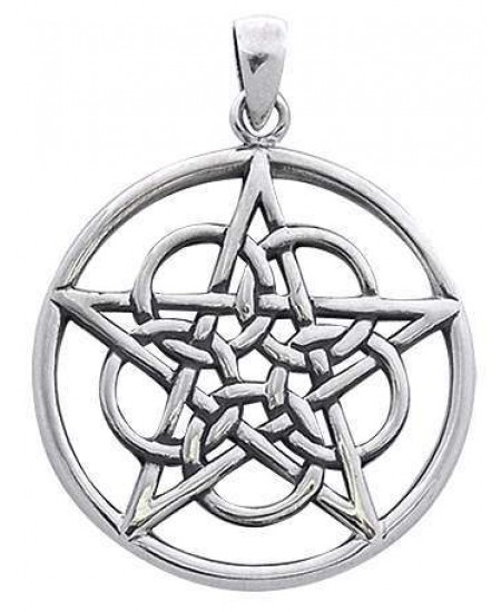 Woven Pentacle Pendant in Sterling Silver at Mystic Convergence Metaphysical Supplies, Metaphysical Supplies, Pagan Jewelry, Witchcraft Supply, New Age Spiritual Store