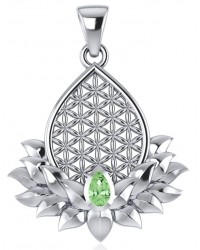Lotus Flower of Life Peridot Pendant Mystic Convergence Metaphysical Supplies Metaphysical Supplies, Pagan Jewelry, Witchcraft Supply, New Age Spiritual Store