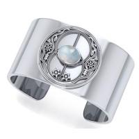 Chalice Well Rainbow Moonstone Cuff Bracelet