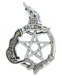 Salem Cat Pentacle Sterling Silver Pendant Mystic Convergence Metaphysical Supplies Metaphysical Supplies, Pagan Jewelry, Witchcraft Supply, New Age Spiritual Store