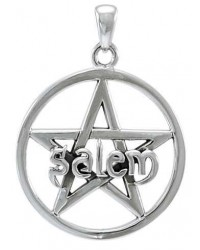 Salem Pentagram Sterling Silver Pendant Mystic Convergence Metaphysical Supplies Metaphysical Supplies, Pagan Jewelry, Witchcraft Supply, New Age Spiritual Store
