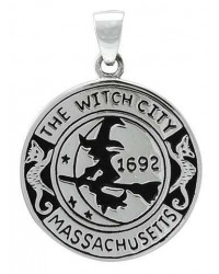 Salem Witch Commerative Sterling Silver Pendant Mystic Convergence Metaphysical Supplies Metaphysical Supplies, Pagan Jewelry, Witchcraft Supply, New Age Spiritual Store