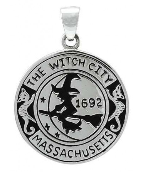 Salem Witch Commerative Sterling Silver Pendant at Mystic Convergence Metaphysical Supplies, Metaphysical Supplies, Pagan Jewelry, Witchcraft Supply, New Age Spiritual Store