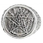Tetragrammaton Pentacle of Solomon Signet Ring at Mystic Convergence Metaphysical Supplies, Metaphysical Supplies, Pagan Jewelry, Witchcraft Supply, New Age Spiritual Store
