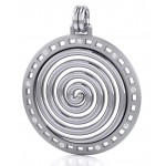 Avalon Spiral Silver Pendant at Mystic Convergence Metaphysical Supplies, Metaphysical Supplies, Pagan Jewelry, Witchcraft Supply, New Age Spiritual Store