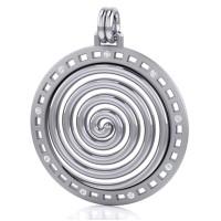 Avalon Spiral Silver Pendant