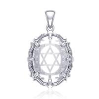 Star of David Natural Clear Quartz Pendant