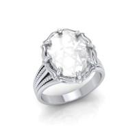 Star of David Natural Clear Quartz Ring
