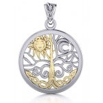 Tree of Life Sun and Moon Pendant at Mystic Convergence Metaphysical Supplies, Metaphysical Supplies, Pagan Jewelry, Witchcraft Supply, New Age Spiritual Store