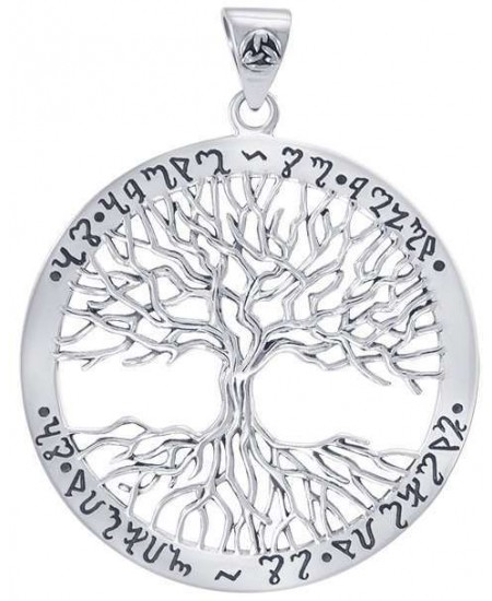 Wiccan Tree of Life Rune Pendant at Mystic Convergence Metaphysical Supplies, Metaphysical Supplies, Pagan Jewelry, Witchcraft Supply, New Age Spiritual Store