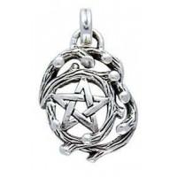 Tree Pentacle Pendant in Sterling Silver
