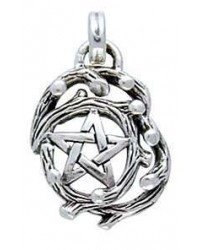 Tree Pentacle Pendant in Sterling Silver Mystic Convergence Metaphysical Supplies Metaphysical Supplies, Pagan Jewelry, Witchcraft Supply, New Age Spiritual Store