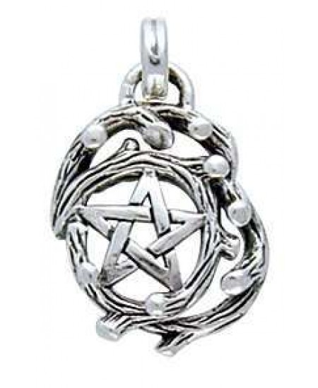 Tree Pentacle Pendant in Sterling Silver at Mystic Convergence Metaphysical Supplies, Metaphysical Supplies, Pagan Jewelry, Witchcraft Supply, New Age Spiritual Store