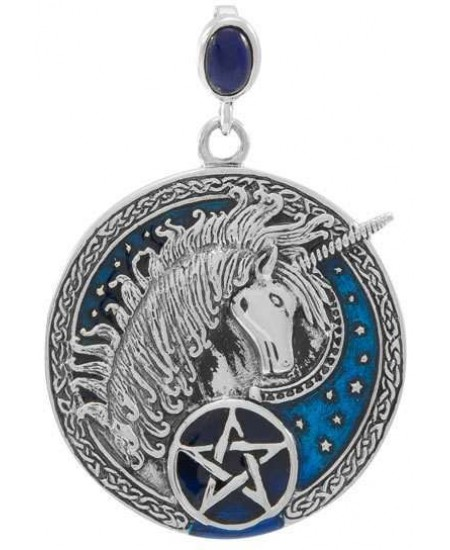 Celtic Unicorn Pentacle Laurie Cabot Pendant at Mystic Convergence Metaphysical Supplies, Metaphysical Supplies, Pagan Jewelry, Witchcraft Supply, New Age Spiritual Store
