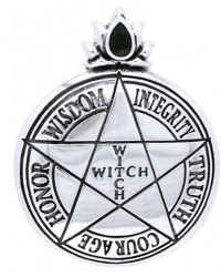 Witch Virtues Pentagram Sterling Silver Pendant Mystic Convergence Metaphysical Supplies Metaphysical Supplies, Pagan Jewelry, Witchcraft Supply, New Age Spiritual Store