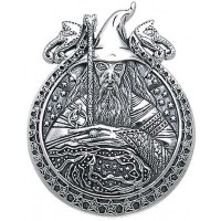 Wizard Magickal Sterling Silver Pendant