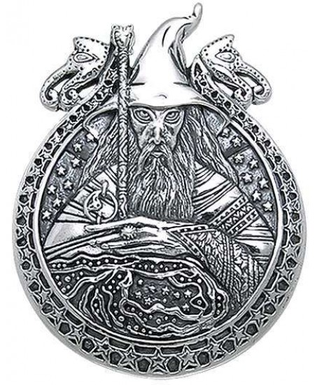 Wizard Magickal Sterling Silver Pendant at Mystic Convergence Metaphysical Supplies, Metaphysical Supplies, Pagan Jewelry, Witchcraft Supply, New Age Spiritual Store
