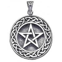 Pentagram Pentacle Pendant in Bronze or Sterling