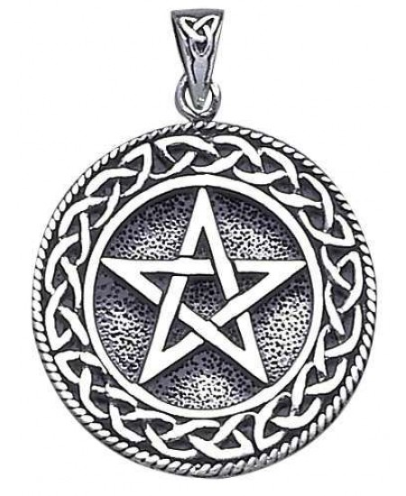 Pentagram Pentacle Pendant in Bronze or Sterling at Mystic Convergence Metaphysical Supplies, Metaphysical Supplies, Pagan Jewelry, Witchcraft Supply, New Age Spiritual Store