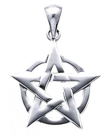 Pentacle Pendant in Sterling Silver at Mystic Convergence Metaphysical Supplies, Metaphysical Supplies, Pagan Jewelry, Witchcraft Supply, New Age Spiritual Store