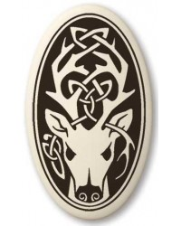 Stag - The Horned God Oval Porcelain Necklace Mystic Convergence Metaphysical Supplies Metaphysical Supplies, Pagan Jewelry, Witchcraft Supply, New Age Spiritual Store