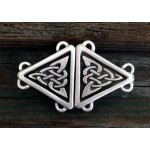 Celtic Triangular Knot Small Cloak Clasp at Mystic Convergence Magical Supplies, Wiccan Supplies, Pagan Jewelry, Witchcraft Supplies, New Age Store