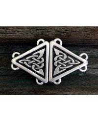 Celtic Triangular Knot Small Cloak Clasp Mystic Convergence Metaphysical Supplies Metaphysical Supplies, Pagan Jewelry, Witchcraft Supply, New Age Spiritual Store