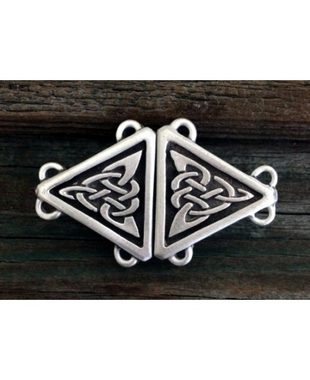 Celtic Triangular Knot Small Cloak Clasp at Mystic Convergence Metaphysical Supplies, Metaphysical Supplies, Pagan Jewelry, Witchcraft Supply, New Age Spiritual Store
