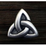Celtic Triquetra Pewter Concho at Mystic Convergence Magical Supplies, Wiccan Supplies, Pagan Jewelry, Witchcraft Supplies, New Age Store